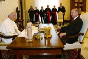 Cumhurbaşkanı Erdoğan  Papa Franciscus ile Görüştü