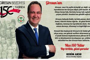 Giresun Belediyesi 150. Yılını Kutluyor