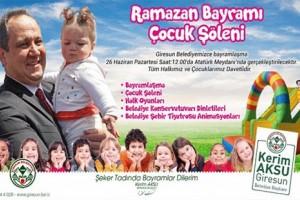 Giresun Atatürk Meydanı'nda Bayramlaşma ve Çocuk Şenliği