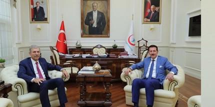 Başkan Erdoğan Tok, Bakan Demircan'ı Ziyaret Etti
