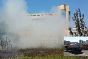 KTÜ'de Yangın