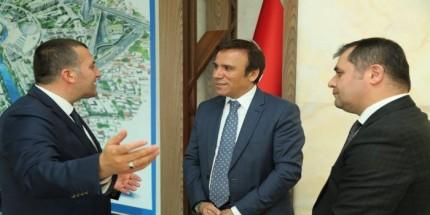Mahmut Erdoğan, Başkan  Genç'i Makamında Ziyaret Etti