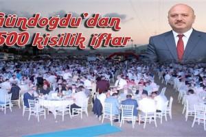 Metin Gündoğdu'dan 2500 Kişilik İftar
