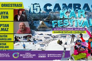 Çambaşı Kar Festivali'nin 15'incisi Gerçekleştiriliyor