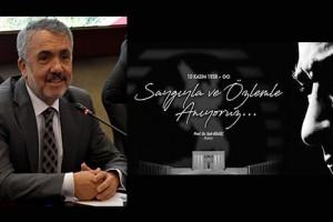 OMÜ Rektörü Bilgiç'ten 10 Kasım  Mesajı