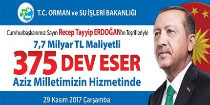 Cumhurbaşkanı Erdoğan'ın Hizmete Alacağı Eserlerden Samsun da Payını Alacak