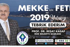Başkan Kasap'tan Mekke'nin Fethi ve Yeni Yıl Mesajı
