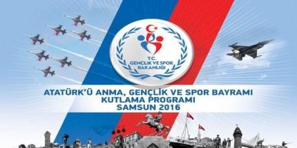 Samsun'da19 Mayıs Kutlama Programı