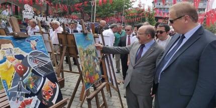 2018 Direnişten Dirilişe Resim Sergisi Açıldı