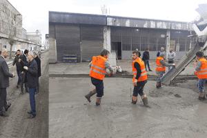 Tekkeköy Belediyesi Sanayilerdeki Beton Çalışmalarına Devam Ediyor