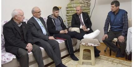 Başkan Yılmaz İle Başkan Togar'dan Kahraman Gaziye Ziyaret