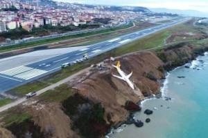 Trabzon Havalimanı'nda Pistten Çıkan Uçak Korkuttu