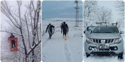YEDAŞ Kurumlarla Koordinasyon Halinde Karla Mücadele Ediyor