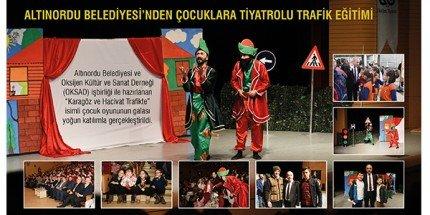 """""""Karagöz ve Hacivat Trafikte"""" İsimli Çocuk Oyununun Galası Yapıldı"""