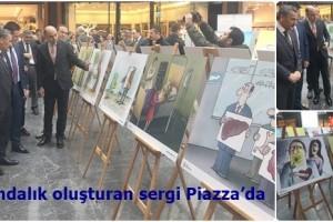 Samsun Piazza'da Organ Bağışı Karikatür Sergisi Açıldı