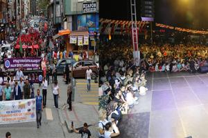 Rize Çay, Turizm ve Yaz Sporları Festivali Kortej Yürüyüşü ve Konserle Devam Etti