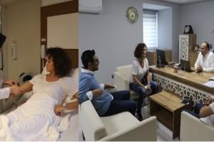 İpek Tenolcay Samsun Büyük Anadolu Hastaneleri'nde Tedavi Oldu