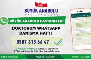 """Büyük Anadolu Hastaneleri'nden """"Doktorum WhatsApp Danışma Hattı"""""""