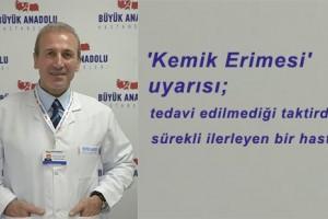 Büyük Anadolu Hastaneleri'nden 'Kemik Erimesi' Uyarısı