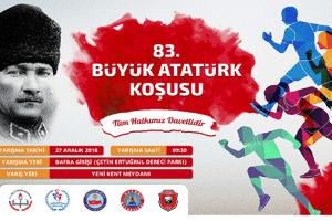 83. Büyük Atatürk Koşusu 27 Aralık'ta