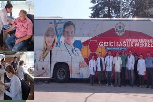 Belediye Gezici Sağlık Otobüsü Mahallelerde Hizmet Veriyor