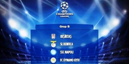 Beşiktaş'ın UEFA Şampiyonlar Ligi Fikstürü Belli Oldu
