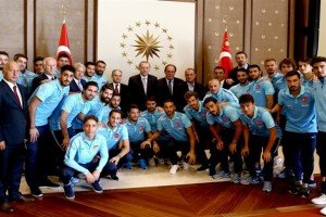 Milli Takım'dan Cumhurbaşkanı Erdoğan'a Ziyaret