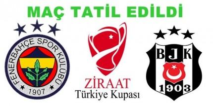 Fenerbahçe-Beşiktaş Maçı Tatil Edildi