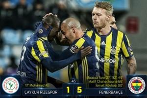 Fenerbahçe Rize'de Galibiyet Serisine Devam Etti