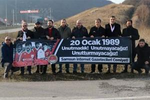 Samsun İnternet Gazetecileri Cemiyeti Futbol Şehitlerini Andı