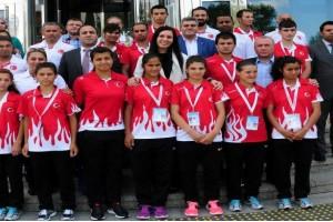 Türkiye Özel Sporcular Federasyonu'ndan Karaaslan'a Ziyaret