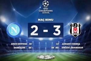 Beşiktaş, Napoli'den 3 Puanı 3 Golle Aldı
