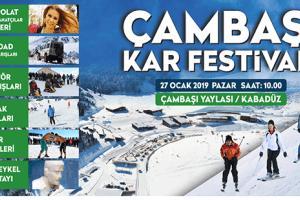 Çambaşı Kar Festivali'nin 14.sü Düzenleniyor