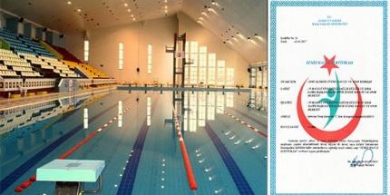 Temiz Havuz Sertifikası Bu yıl da OMÜ Olimpik Yüzme Havuzuna