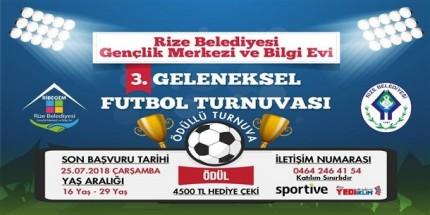RİBEGEM Futbol Turnuvası Başvuruları Başladı