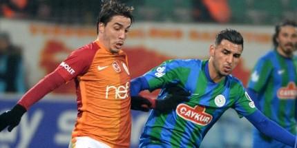 Çaykur Rizespor Galatasaray'dan Puanı Kaptı