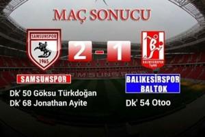 Samsunspor 4 Maç Sonra 3 Puana Ulaştı