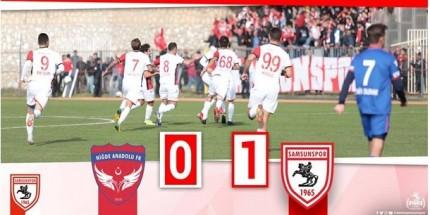Samsunspor  Niğde Anadolu FK Deplasmanında 3 Puan Aldı