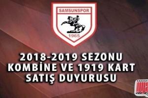 Samsunspor'dan Kombine ve Taraftar Kart Açıklaması