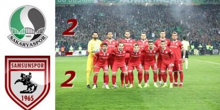 Samsunspor, Liderlik Şansını Değerlendiremedi