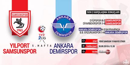 Samsunspor'un Bu Hafta Rakibi Ankara Demirspor