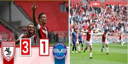 Samsunspor  Ankarademirspor'dan 3 Puanı 3 Golle Aldı