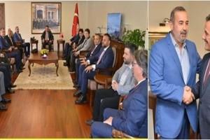 Vali Kaymak, Samsunspor Yönetimini Kabul Etti