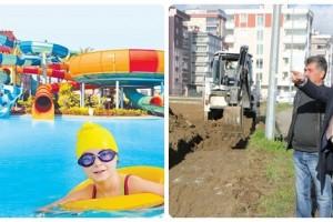 Atakum'da Aqua Park İnşaatı Başladı