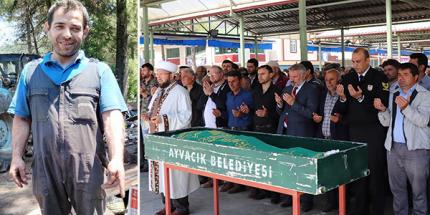 Ayvacık Belediyesi Personeli Osman Gümüştaş Son Yolculuğuna Uğurlandı