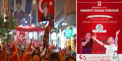 Giresun'da Dolu Dolu Cumhuriyet Bayramı Etkinlikleri