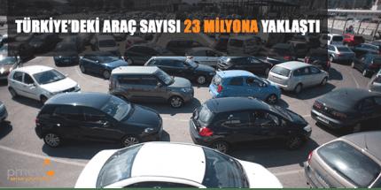 Türkiye'deki Araç Sayısı Artıyor
