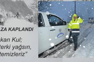 Terme Belediyesi Kar Yağışı İçin Teyakkuzda