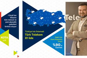 Türk Telekom Türkiye'de Limitsiz İinternet Çağını Başlatıyor