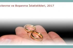 2017 Yılı Evlenme ve Boşanma İstatistikleri Açıklandı
